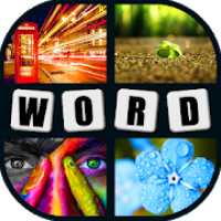 4 pics 1 word brain game. No ads