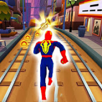 Amazing Super Heroes Running : Subway Home Runner
