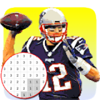 American Football Player Color By Number - Pixel