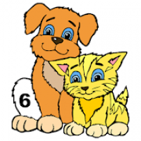Animals Color by Number:Kids Learn Number Coloring