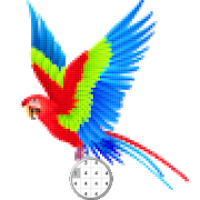 Bird Color By Number-Pixel Art: Coloring book