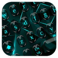 Black Blue Light Keyboard