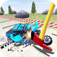 Car Crash High Jumps Stunts: Test Drive Simulator