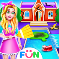 Celebrity House Clean Up-Girl House Tidy Up Game