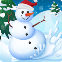 Clumsy Snowman: Winter Running And Skiing Game