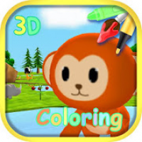 Coloring 3D - Animal park with AR Camera