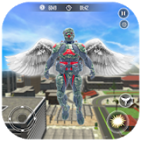 Crime Vegas Air Strike: Crime Angel Superhero Game