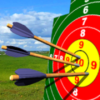 Crossbow shooting gallery. Shooting on accuracy.
