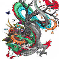 Dragon Art 3D Coloring By Number - Pixel Art