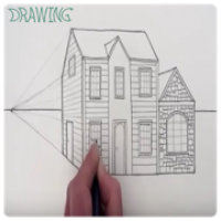 Drawing Modern House Step By Step