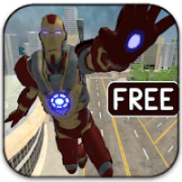 Flying Super Iron Hero Of Crime City Rescue Game
