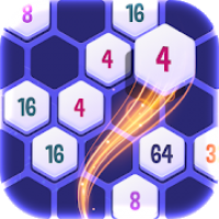 Hexa CellConnect 2048 Number Puzzle