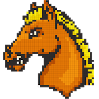 Horse Color by Number-Pixel Art Draw Coloring Book
