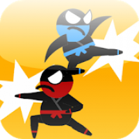 Jumping Ninja Fight : Two Player Game