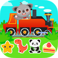 Kids Train Game: Design Drive Puzzles Coloring
