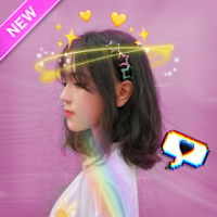 Live face stickers sweet camera - Filters for Snap