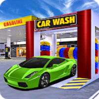 Modern Car Wash Service Center: Gas Station
