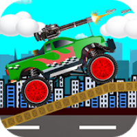 Monster Truck game  with Gun Climb Shooting