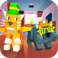 My Blocky Cat: Virtual Pet - try animal care game!