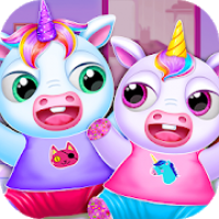 My Twin Unicorn Baby Care Pet House