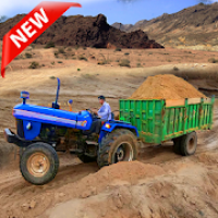 New Tractor trolley Farming Cargo Driver 3D