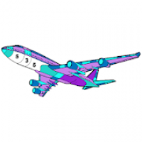 Planes Color by Number - New Coloring Book Pages