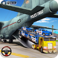 Police Car Transporter Plane: Car Driving Games