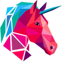Poly Art Unicorn 3D Puzzle Roll Polygons Game