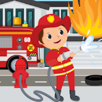 Pretend Play Fire Station: Town Firefighter Story