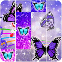 Purple Piano Glitter Tiles Butterfly : Songs 2019