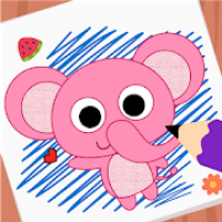 Purple Pink Coloring Book-Kids Painting Game