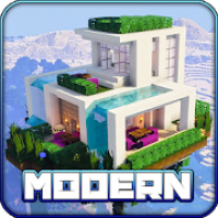 Redstone Modern House Maps for MCPE