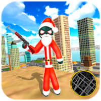 Santa Claus Stickman - Rope Hero Gangster Crime