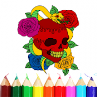 Skull Tattoo Coloring Book | FREE