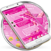 SMS Messages Sparkling Pink Theme - emoji chat