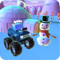 Snowman Monster Car Christmas Train: Gift Collect