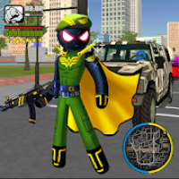 Super Army Stickman Rope Hero Vice Town Crime