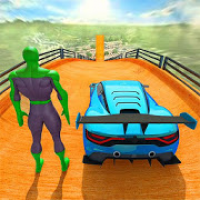 Superheroes GT Racing Car Stunts
