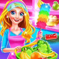 Supermarket Girl Cleanup - House Cleaning Games
