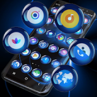 Theme Launcher - Spheres Blue Icon Changer Free