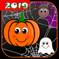 Touch Pumpkins. Kids Halloween games