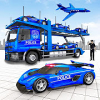 US Police Plane Car Transporter Game