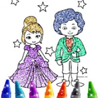 Wedding Coloring Book Glitter