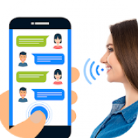 write sms by voice: Write message by voice